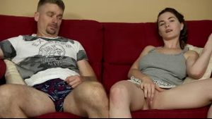 Masturbating On The Couch With Daddy.