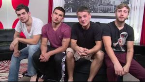 Four Boys Orgy for the Camera.