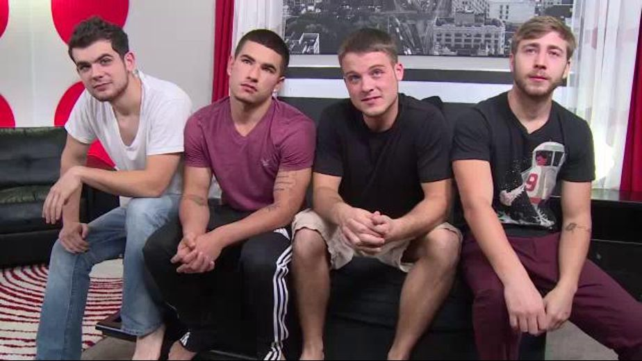 Four Boys Orgy for the Camera, starring Blake Savage, Brandon Beal, Vadim Black and Zeno Kostas, produced by Brokestraightboys. Video Categories: Str8 Bait, Orgies and Blowjob.