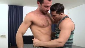 Hairy Jessy Ares Rubs Chests With Smooth Topher.