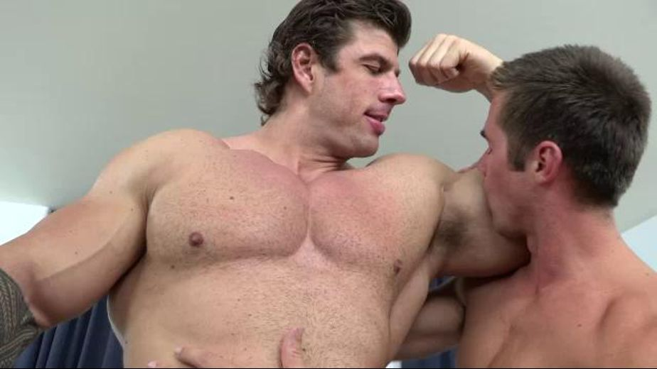 He's Tall Good Looking And Large, starring Mike De Marco and Zeb Atlas, produced by Jake Cruise Media and Cocksure Men. Video Categories: Blowjob and Muscles.