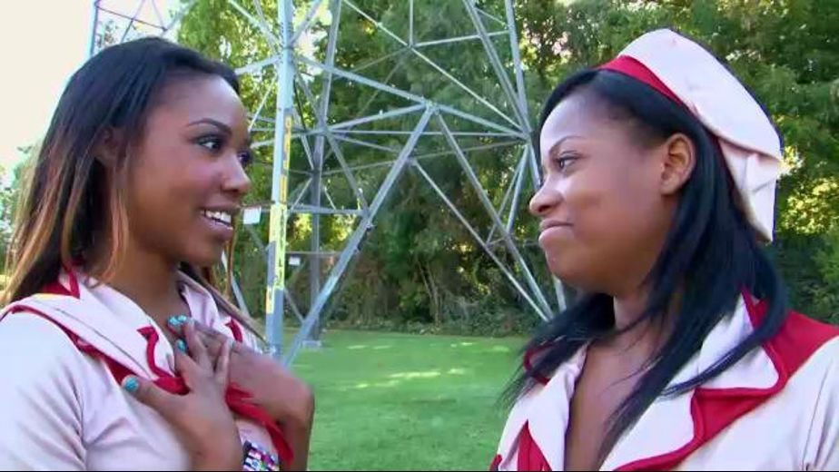 Lesbian Girl Scouts Push More Than Cookies, starring Monique Symone and Chanell Heart, produced by Love's Kitty Films. Video Categories: Black and Lesbian.