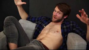 Colby Keller Flirts With the Cameraman.