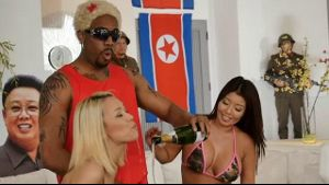 Kim Jong Un & Dennis Rodman Party Down.