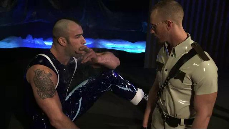 Jackbooted Cop Will Be Humiliated, starring Spencer Reed and J.R. Matthews, produced by Titan Media. Video Categories: Fetish, Blowjob and Muscles.