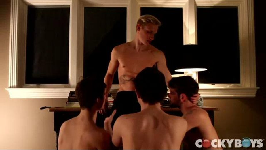 Max Ryder Seeks the Power, starring Max Carter, Max Ryder, Jasper Robinson and Duncan Black, produced by Cockyboys. Video Categories: College Guys, Orgies, Euro, Muscles and Blowjob.