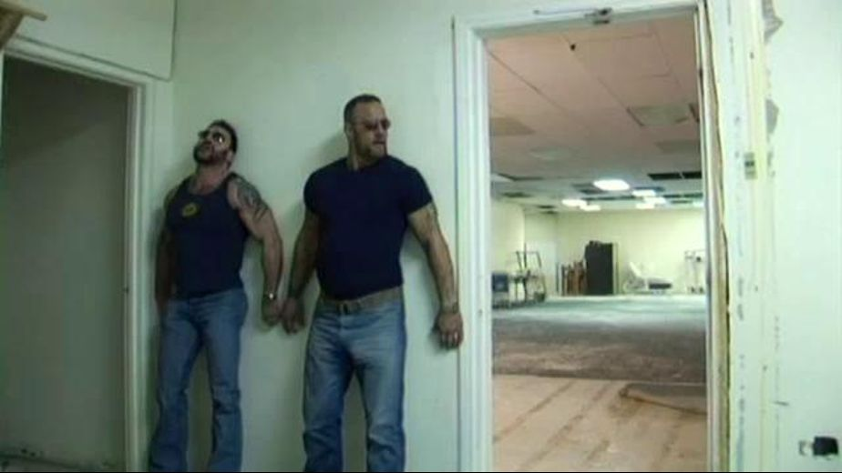 Criminals on the Lam Stop for Sex, starring Nick Angelo and Jared Wolfe, produced by Butch Bear and Bear Omnimedia. Video Categories: Muscles, Blowjob and Bear.