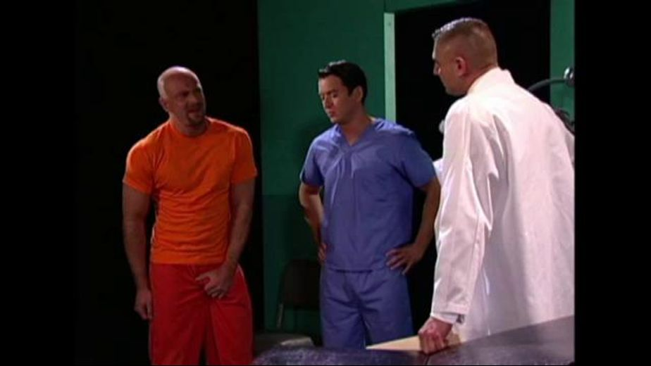 Prison Doctor Treats a Painful Groin, starring Carlos Morales, Shane Rollins and Kent North, produced by Hot House Entertainment and Falcon Studios Group. Video Categories: Threeway, Muscles and Blowjob.