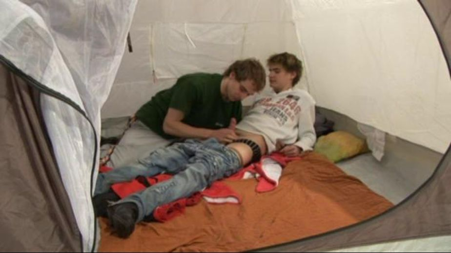 Campers Doing Nasty Things in a Tent, produced by Hammer Entertainment and Raw Eyes Productions. Video Categories: Bareback and College Guys.