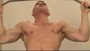 Three Muscular Guys Get Hard in a Prague Gym.