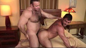 Big Bear Brad Kalvo on Hairy Fuck Mike Dozer.