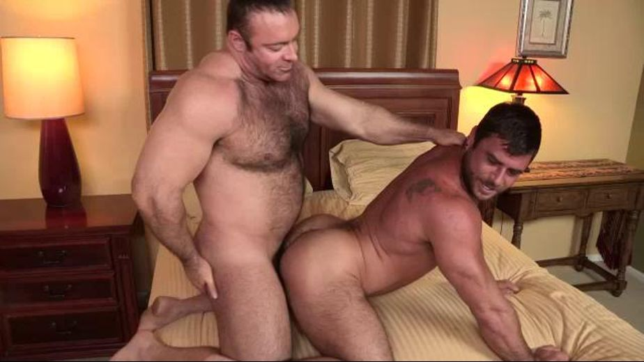 Big Bear Brad Kalvo on Hairy Fuck Mike Dozer, starring Brad Kalvo and Mike Dozer, produced by Cocksure Men and Jake Cruise Media. Video Categories: Bareback, Bear, Muscles and Anal.