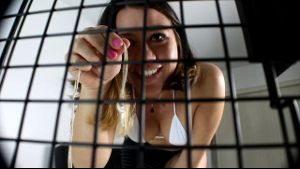 Caged Cuckold Locked In and Made To Watch.