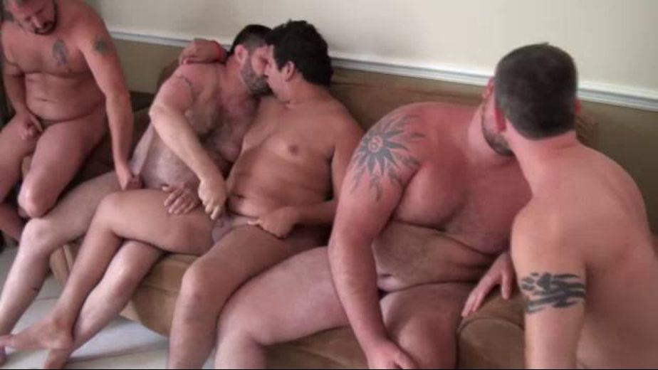 A Large Band of Bears Orgies All Night, starring Caleb, Marc Angelo, Chef Bear, Sid Morgan, Gunner Scott, Rick Wolf and Copper Hill, produced by Bear Films. Video Categories: Orgies, Blowjob, Masturbation and Bear.