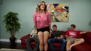 Mom Cory Chase Bangs All Three Sons.