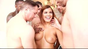 Keisha Grey Is Really Stoked for the Gangbang.
