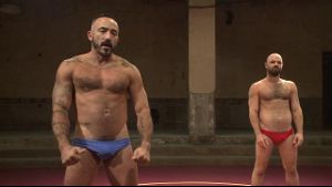 Big Alessio Romero Wrestles Real Life Partner.