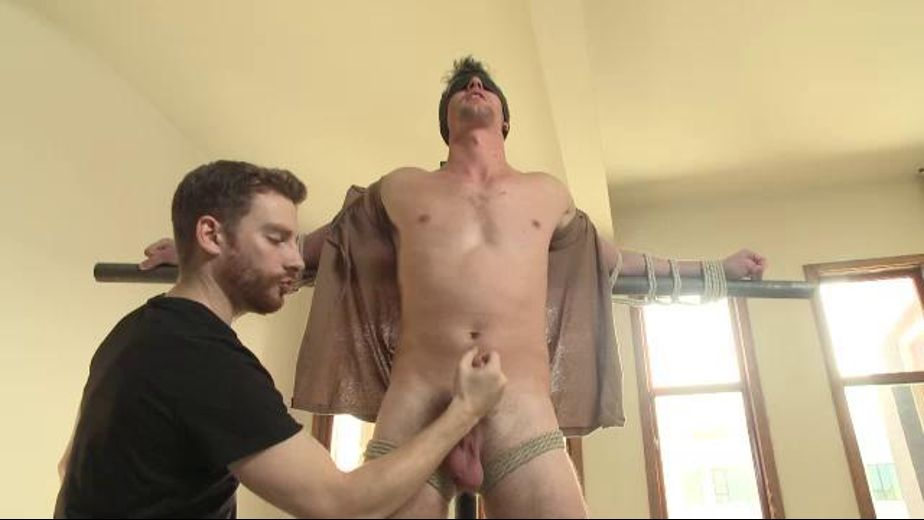Straight Guy Bound and Edged Curses Tormenters, starring Bryan Cavallo, produced by KinkMen. Video Categories: Fetish, Threeway, Blowjob, BDSM, Masturbation and Muscles.