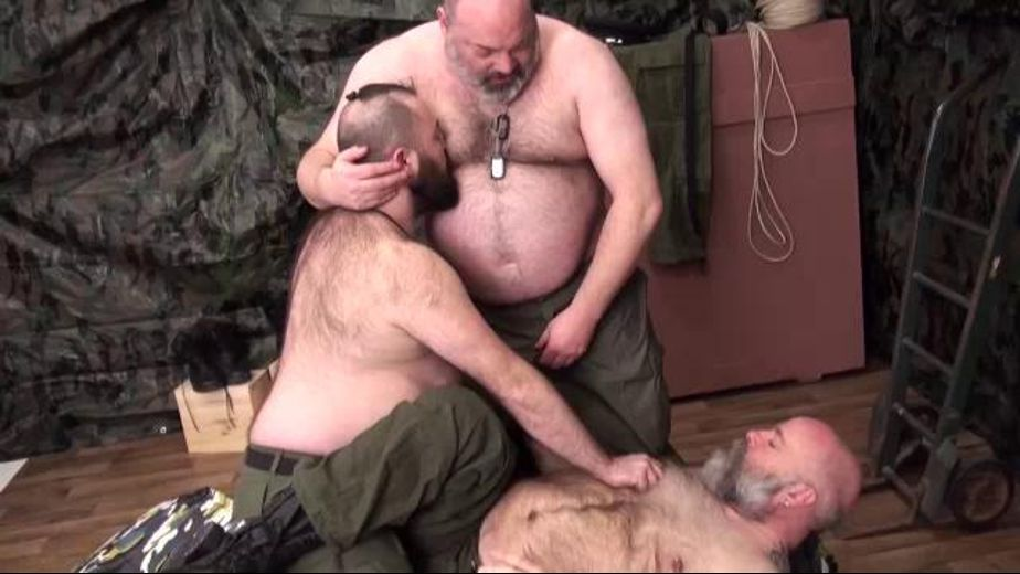 Hairy Older Bears Living in Tents, starring Tristan Riant, Bearsilien and Daniel Papou, produced by Bear Films. Video Categories: Mature, Military, Anal, Bear, Uncut, Blowjob and Threeway.