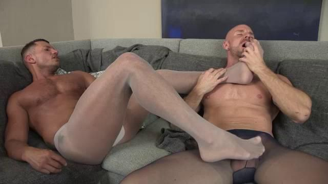 Pantyhose masturbating gays