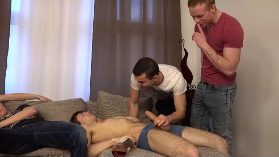 Passed-Out Partiers Get Not-So-Rude Awakening, starring Tom Vojak, Kail Kopec and Petr Zuska, produced by William Higgins. Video Categories: Muscles, Orgies, Euro, Blowjob and Uncut.