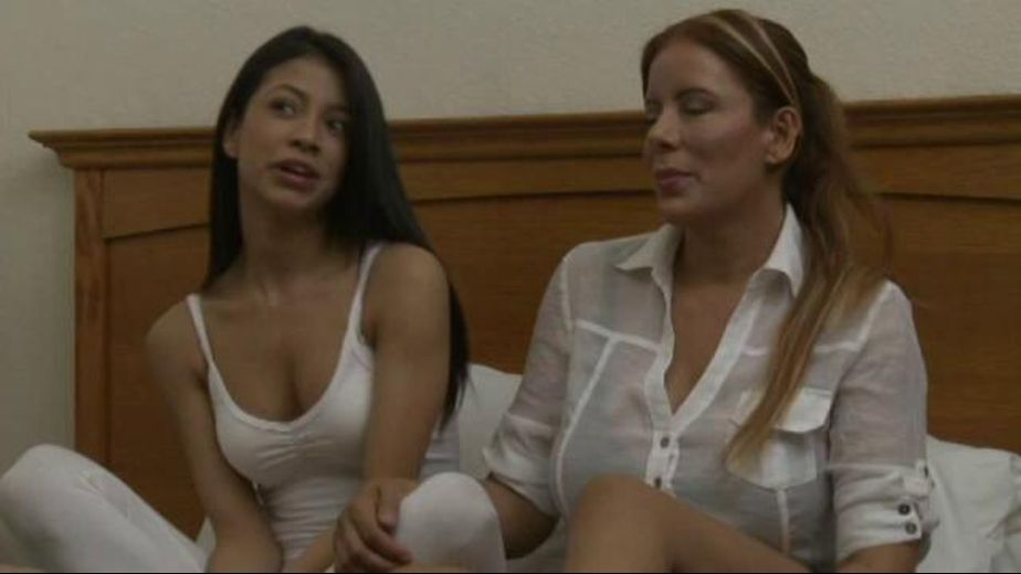Its More Fun To Stay With Mom Than Party, starring Veronica Rodriguez and Nicky Ferrari, produced by Girlfriends Films. Video Categories: Older/Younger and Lesbian.