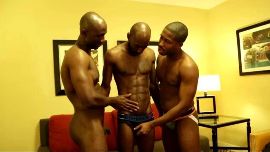 Two Black Men Want Dick on Demand, starring Astengo, PD Fox and JP Richards, produced by Next Door Ebony. Video Categories: Blowjob, Muscles, Threeway and Black.
