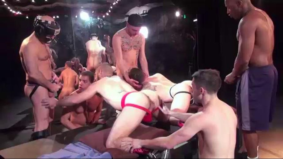 Everybody Is Cumming to the Big Orgy, starring Tommy DeLuca, Adam Russo, Jake Steel, Champ Robinson, Jon Shield, Luke Harding and Rob Skelton, produced by Raw Fuck Club and Dark Alley Media. Video Categories: Anal, Masturbation, Orgies, Muscles and Blowjob.
