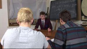 Teacher's Assistant Double Teamed by Bad Boys.