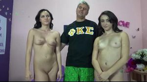 Long Haired Teenage Brunettes With Cock Hunger.