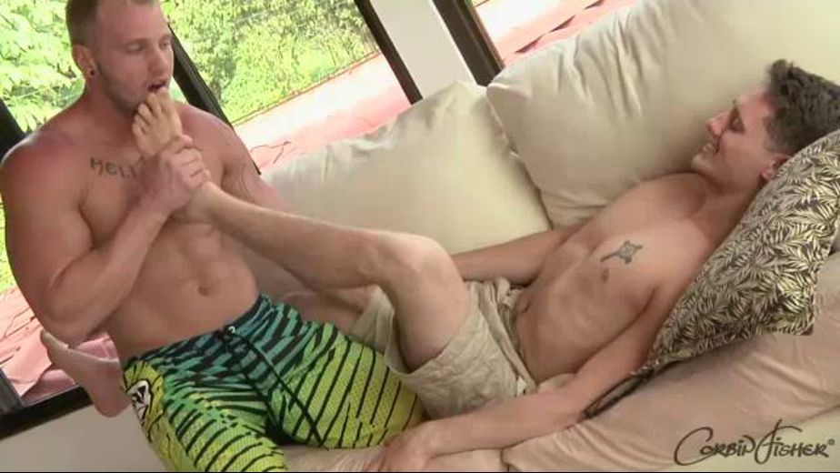 Hand in the Pants and Toes in the Mouth, produced by Corbin Fisher. Video Categories: Muscles and Blowjob.