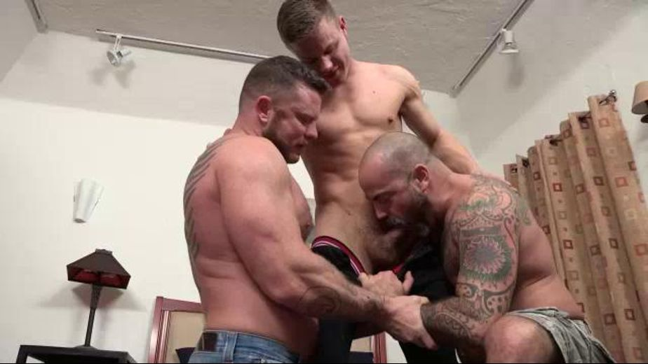 A Treat for Charlie Harding and Scotty Rage, starring Charlie Harding and Scotty Rage, produced by Jake Cruise Media and Hot Dads Hot Lads. Video Categories: Muscles, Threeway and Blowjob.