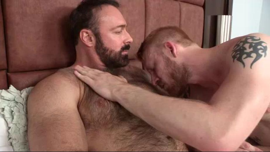 Big Bear Brad Kalvo and the Ginger Man, starring Brad Kalvo and Devan Bryant, produced by Jake Cruise Media and Cocksure Men. Video Categories: Bareback and Muscles.