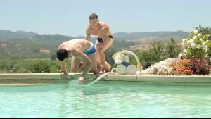 Dante Martin Throws Joey Moriarty in the Pool.
