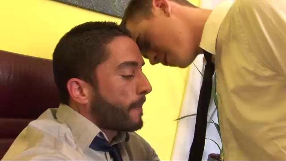 Boss Has a Persistent Admirer, starring Tristan Wood and Robin Sanchez, produced by Dads N Lads and Staxus. Video Categories: College Guys, Euro, Uncut and Bareback.