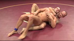 Naked Wrestling on the Mat.