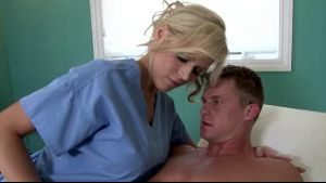 Hot Blonde Doctor Spots Patient's Boner.