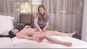 Lesbian Massage in the Luxury Hotel.