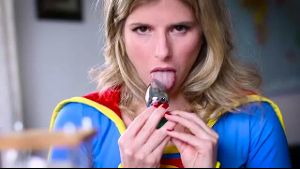 Super Girl Is Made Into An Anal Slut.