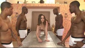 Riley Reid on a Table for Some Black Gentlemen.