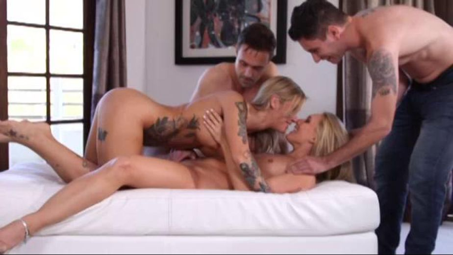 AJ Applegate Gangbang Spirals Towards Chaos, starring Richie's Brain, A.J. Applegate, Kleio Valentien and Brad Knight, produced by Zero Tolerance. Video Categories: Blondes, Anal, Small Tits and GangBang.
