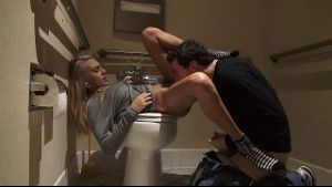 Janice Griffith and James Deen's Bathroom Quest.