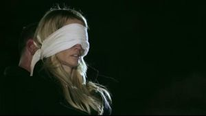 Jessica Drake in a Blindfold Gangbang at Night.