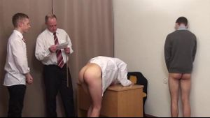 Misbehaving Schoolboys Get Bottoms Whipped.