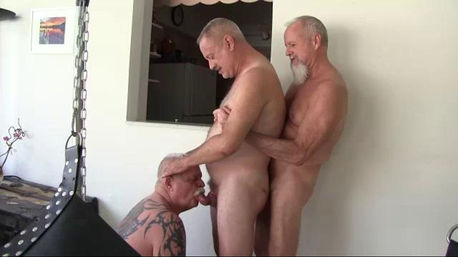 The Gathering of the Daddies, starring Daddy Ric, Jake Edwards, Travis Woods, Lanz Adams, Jay Ricci and Alan Chiras, produced by CJXXX and VictorCodyXXX. Video Categories: Mature, Blowjob, Orgies and Bear.