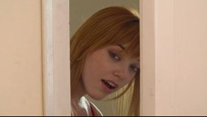 Redhead Anny Aurora Spies on Lovers.
