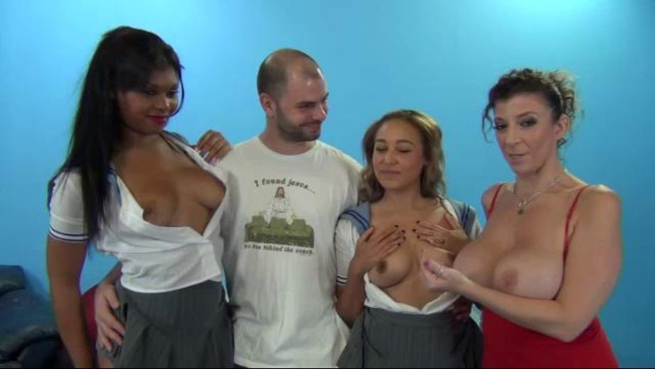 Three Girls Cum in All Sizes, starring Sara Jay, Tinslee Reagan and Lila Jordan, produced by Porno Dan Presents and Immoral Productions. Video Categories: Big Tits, Interracial, Orgies, Blowjob and Gonzo.