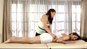 All Girl Masseuses Rub Out All The Tension.