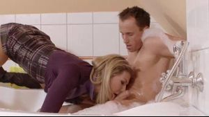 Blond Euro Babe Bathtub Seduction.