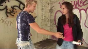 Close Encounter at the Graffiti Wall.